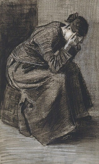 Vincent_van_Gogh_-_Mourning_WomanSeated_on_a_Basket_(F1060)